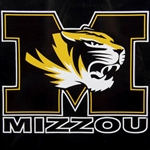 Mizzou Block M Tiger Head Decal