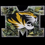 Mizzou Camouflage Block M Tiger Head Decal