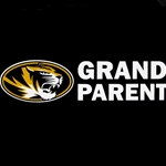 Mizzou Grandparent Oval Tiger Head Decal