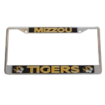 Mizzou Tigers Black & Gold Metal License Plate Frame