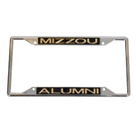 Mizzou Alumni Gold Chrome License Plate Frame