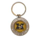 Mizzou Tiger Head Gold Bling Spinner Keychain