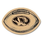 Mizzou Oval Tiger Head Football Coasters