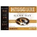 Missouri Game Day Saturday Disposable Placemats