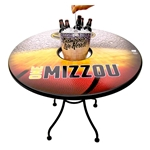 Mizzou Bucket Table with Basketball MagnetSkins