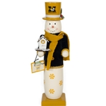 Mizzou Snowman with Top Hat & Birdhouse Nutcracker