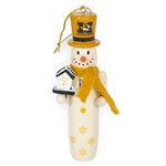Mizzou Nutcracker Snowman Ornament with Tophat & Birdhouse