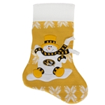 Mizzou Oval Tiger Head Gold Knit Stocking