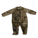 Mizzou Newborn Oval Tiger Head Camouflage Footed Bodysuit