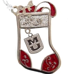 Mizzou Sparkling Stocking with MU Charm Ornament