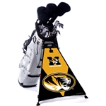 Missouri Tiger Head Black & Gold Golf Bag Banner