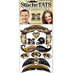 Mizzou Mustache Tattoo Pack