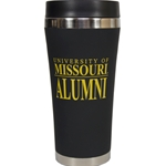 University of Missouri Alumni Black Travel Tumbler