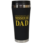University of Missouri Dad Black Travel Tumbler