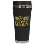 University of Missouri Grandpa Black Travel Tumbler