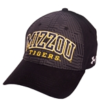 Mizzou Tigers Under Armour Charged Cotton Black Hat