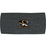Mizzou Tiger Head Grey Headband