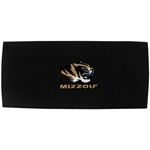 Mizzou Tiger Head Black Headband