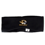 Mizzou Tiger Head Black Fleece Headband