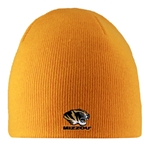 Mizzou Tiger Head Gold Knit Beanie