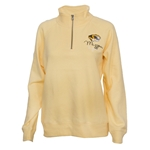 Mizzou Tigers Women's Sanded Fleece Yellow 1/4 Zip Sweatshirt