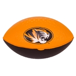 Mizzou Oval Tiger Head Black & Gold Nerf Footbal