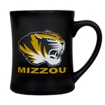Mizzou Tiger Head Black Matte Diner Mug