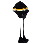 Mizzou Columbia Block M Omni-Heat Black Knit Beanie with Tassels