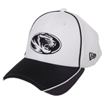 Mizzou Tiger Head White Mesh Hat