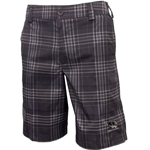 Mizzou Under Armour Men's Tiger Head Plaid Charcoal Grey Golf Shorts