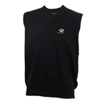 Mizzou Tiger Head Black V-Neck Sweater Vest