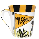 Missouri Go Tigers Black & Gold Ceramic Mug
