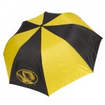 "Mizzou Oval Tiger Head 48"" Black & Gold Umbrella"
