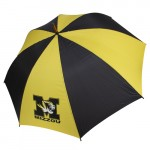 "Mizzou Tiger Head 62"" Black & Gold Umbrella"