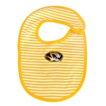 Mizzou Kids' Oval Tiger Head Gold Striped Bib