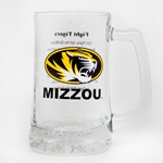 Mizzou Oval Tiger Head Fight Song Glass Tankard