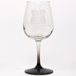 Missouri Tiger Head Etched Wine Glass