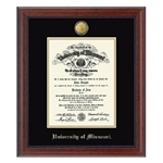 University of Missouri Official Seal 23K in Signature PHD Diploma Frame