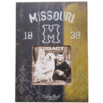 Mizzou Block M 1839 Black & Gold 4x4 Photo Frame