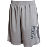Mizzou Under Armour Tiger Head Grey Tonal Half Back Shorts