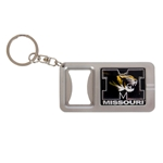 Missouri Tiger Head Bottle Opener & Flashlight Keychain