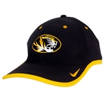Mizzou Nike Tiger Head Black Comfort Bill Hat