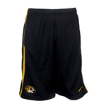 Mizzou Nike Oval Tiger Head Mesh Black & Gold Basketball Shorts
