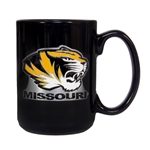 Missouri Tiger Head Black Mug