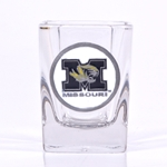 Missouri Tiger Head Square Shot Glass