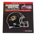 Mizzou Oval Tiger Head Black Football Helmet Car Sticker