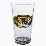 Mizzou Oval Tiger Head SEC Bottoms Up Pint Glass