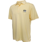Mizzou Cutter & Buck Tiger Head Drytec Gold Polo
