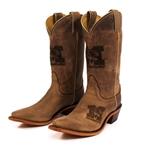Missouri Women's Tiger Head Brown Cowboy Boots