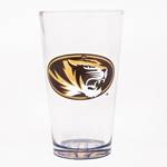 Mizzou Oval Tiger Head SEC Pilsner Glass